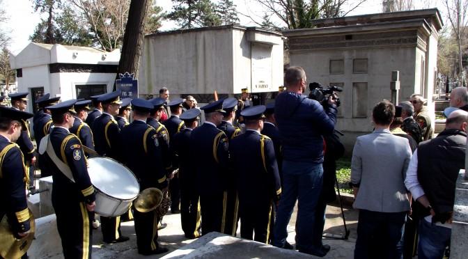 Generalul Radescu comemorat la Cimitirul Bellu. Anul 2015 – dedicat recuperarii memoriei marelui luptator anticomunist.