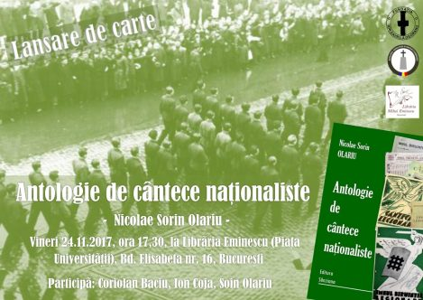 Lansarea cartii antologie de cantece nationaliste