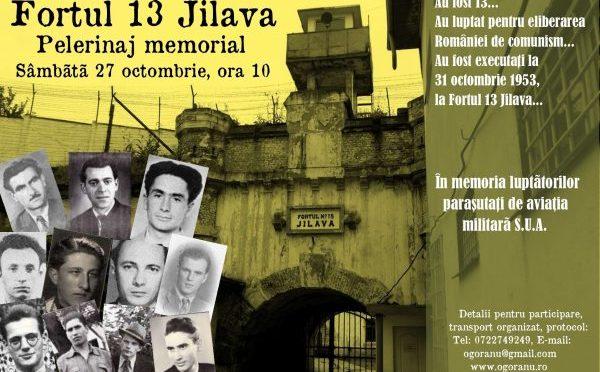 FORTUL 13 JILAVA. Pelerinaj memorial dedicat luptatorilor parasutati de aviatia SUA si executati la 31 octombrie 1953.